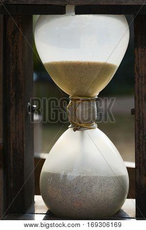 Medieval hourglass - Half empty