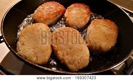 Delicious Cutlets Of Minced Meat