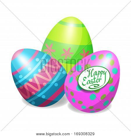 Colorful Easter eggs for Easter holidays design. Easter vector poster