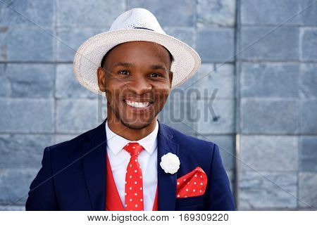 Cool Young Male African Fashion Model With Hat