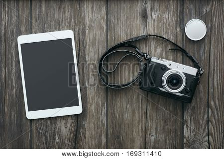 Professional Camera And Tablet