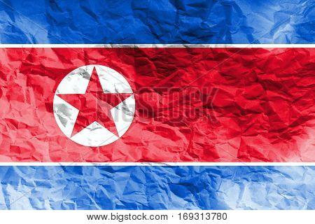 North Korea flag ,3D North Korea national flag 3D illustration symbol