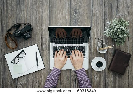 Freelance Working At Desk