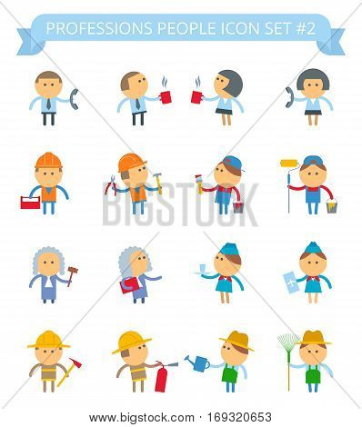 Vector flat infographic people. Professions people icon set: office people manager fireman painter worker judge stewardess avatar people icons. Suitable for infographics web social networks.