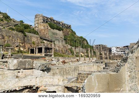 Battleship Island in Japanese city