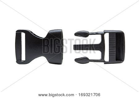 Plastic buckle isolated on a white background