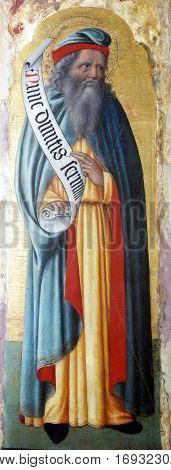 POREC, CROATIA - DECEMBER 12: Antonio Vivarini: Saint Simeon, Altarpiece in Euphrasian Basilica in Porec, Croatia on December 12, 2011