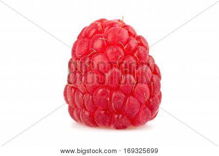 Fresh ripe raspberry isolated on white background
