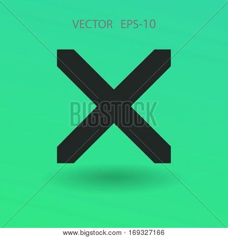Flat  icon of prohibit. vector illustration