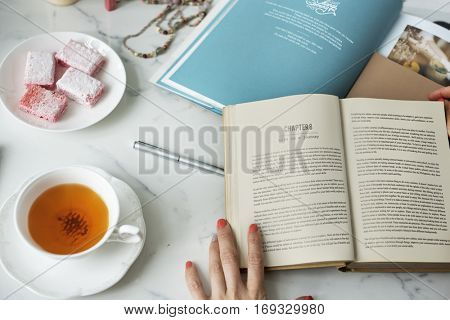Book Coworker Girls Networking Information Concept