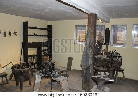 The Old Town Museum -Den Gamle By Aarhus - Denmark Famous landmark- indoors