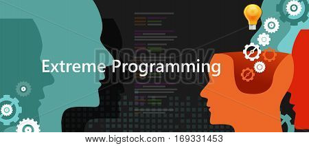 extreme programming xp agile software programming development methodology illustration