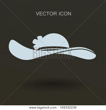Female hat icon. vector illustration