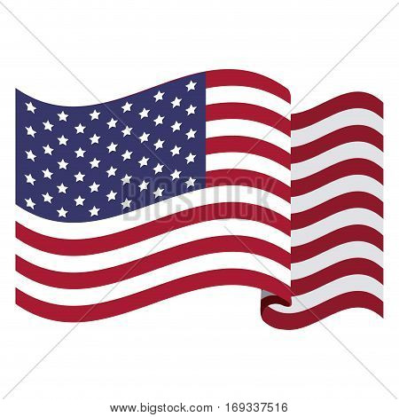 colorful flag the united states vector illustration