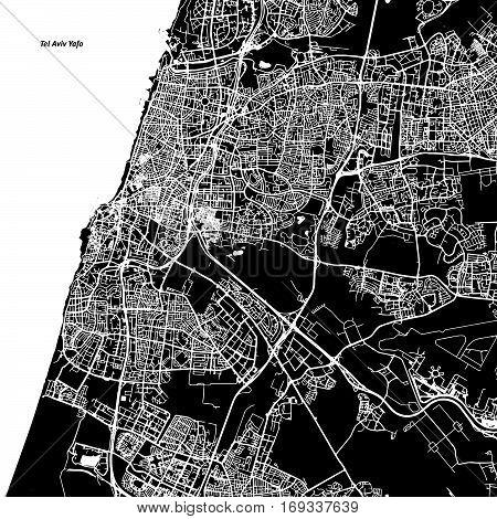 Tel Aviv-yafo Vector Map