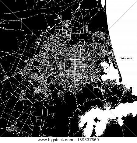 Christchurch Vector Map