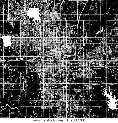 Oklahoma City Vector Map