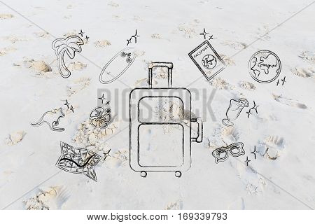 Holiday Planning, Luggage & Travel Icons