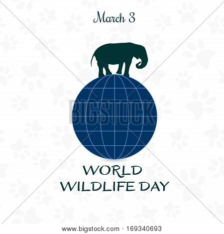 World Wildlife Day, March 3. Vector illustration for you design, card, banner, poster or calendar