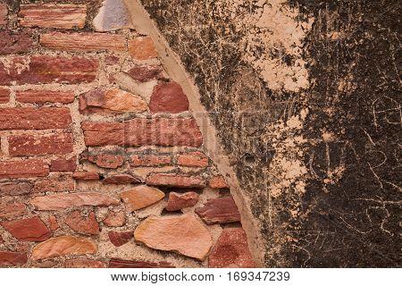 wall texture at fatehpur sikri, near agra