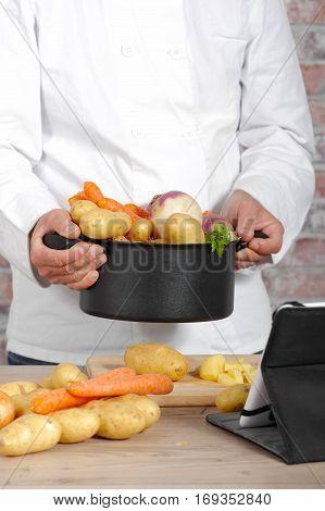 The vegetables for the preparation of pot-au-feu