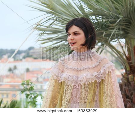 Soko attends the 'The Dancer (La Danseuse)' photocall during the 69th annual Cannes Film Festival at the Palais des Festivals on May 13, 2016 in Cannes, France.