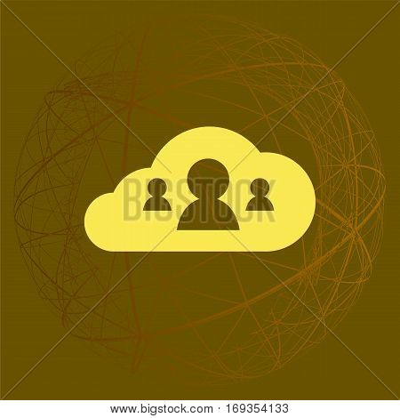Customers Connected To Cloud Service Icon