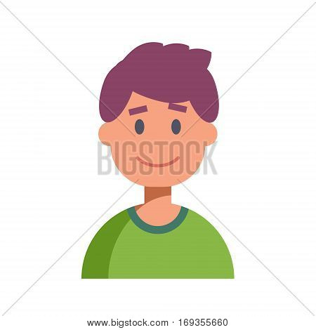 Flat Design Male Character Icon. Vector illustration