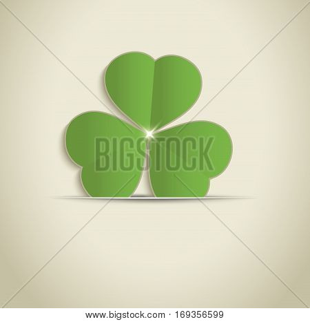 St.Patrick's Day background paper greeting card raster