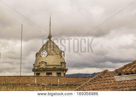 Domme With Clock, Riobamaba, Ecuador