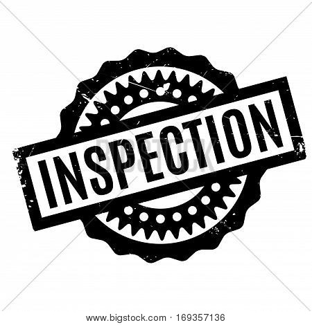 Inspection rubber stamp. Grunge design with dust scratches. Effects can be easily removed for a clean, crisp look. Color is easily changed.