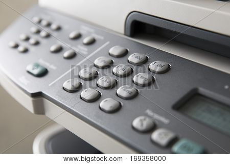 Buttons on printer panel, control panel on electronic equipment