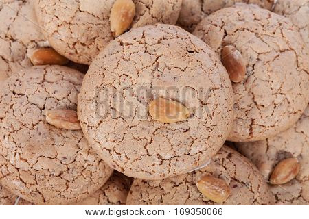 Almendrados, a typical and traditional almond biscuit from the Algarve region of Portugal
