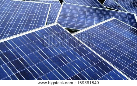 Solar Panel on the daytime for energy production