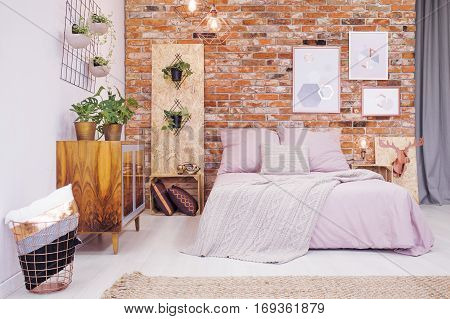 Bedroom With Osb Decoration