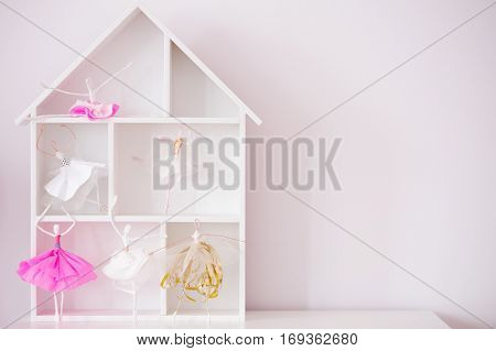 Decorative Wood House Shelf