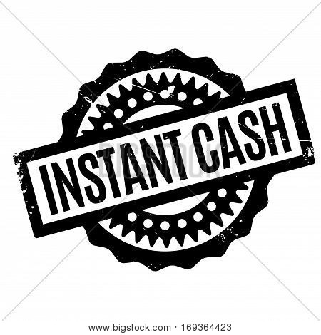 Instant Cash rubber stamp. Grunge design with dust scratches. Effects can be easily removed for a clean, crisp look. Color is easily changed.