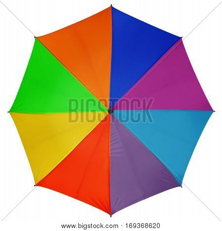 Colorful umbrella isolated on white background. Clipping path included.