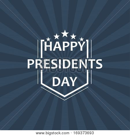 Happy Presidents Day Vector Illustration. Design for greeting card, poster and banner.