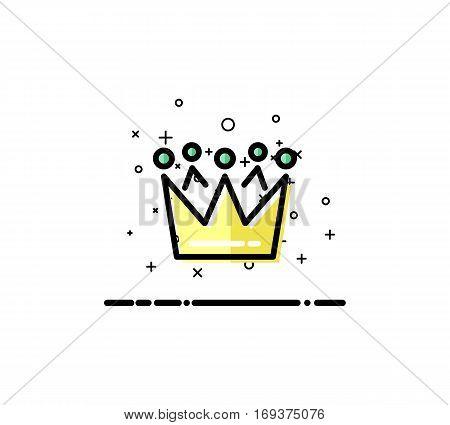 Crown icon. Single high quality outline symbol for web design or mobile app. Thin line sign for design logo. Black outline pictogram on white background
