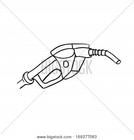 close up of a gas station icon sketch vector illustration