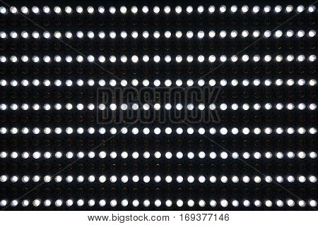 Pattern of matrix white LED in black Panel.