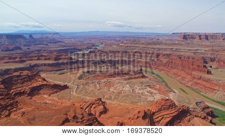 Colorado River flowing through Dead Horse Point State Park, Utah