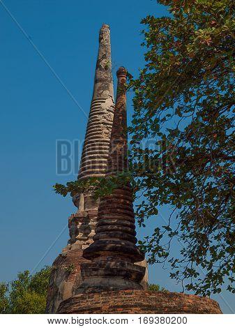 Wat Yai Chaimongkol Ayutthaya Thailand. (landmark religious)