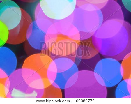 Background of blurred christmas tree lights