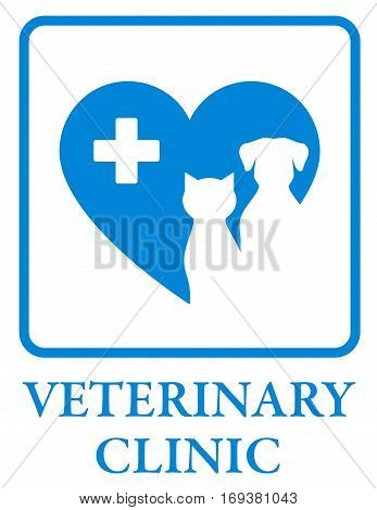 Veterinary Clinic Icon In Frame
