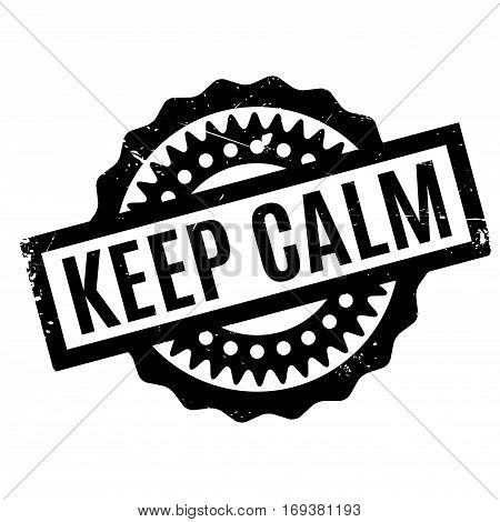 Keep Calm rubber stamp. Grunge design with dust scratches. Effects can be easily removed for a clean, crisp look. Color is easily changed.