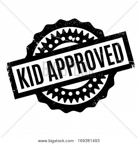 Kid Approved rubber stamp. Grunge design with dust scratches. Effects can be easily removed for a clean, crisp look. Color is easily changed.