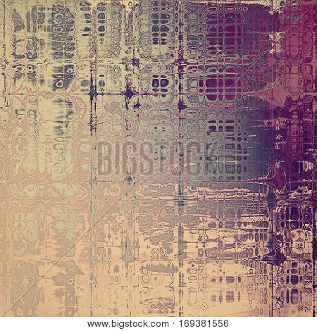 Distressed texture, faded grunge background or backdrop. With different color patterns: yellow (beige); brown; purple (violet); gray; pink