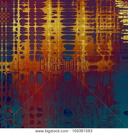 Retro design on grunge background or aged faded texture. With different color patterns: yellow (beige); brown; blue; red (orange); purple (violet); pink